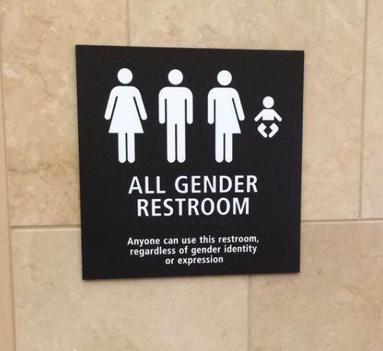 Аэропорт в Сан-Диего. Туалет унисекс