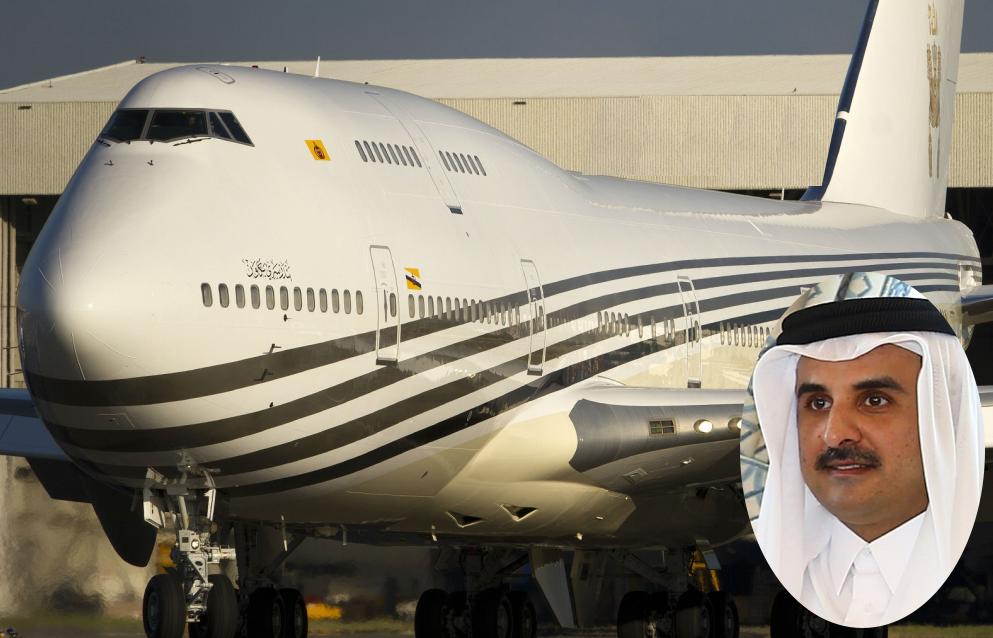 Как выглядит надоевший эмиру Катара «золотой» самолет, подаренный Турции