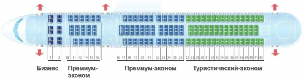 Боинг 767 300 икар схема салона 221