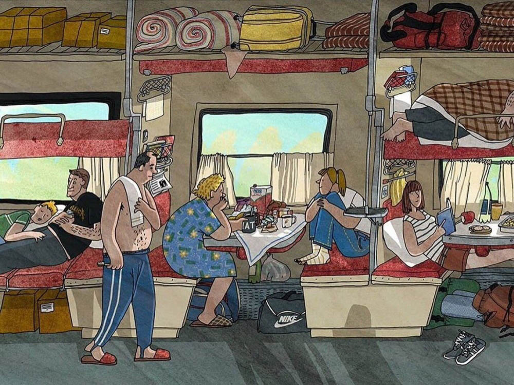 дорога в поезде картинки прикольные пандемия коронавируса внесла