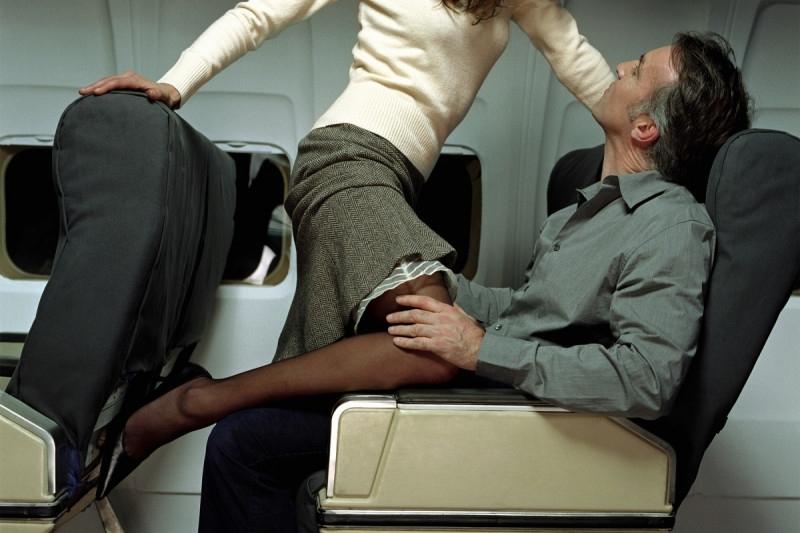 Трах в самолете
