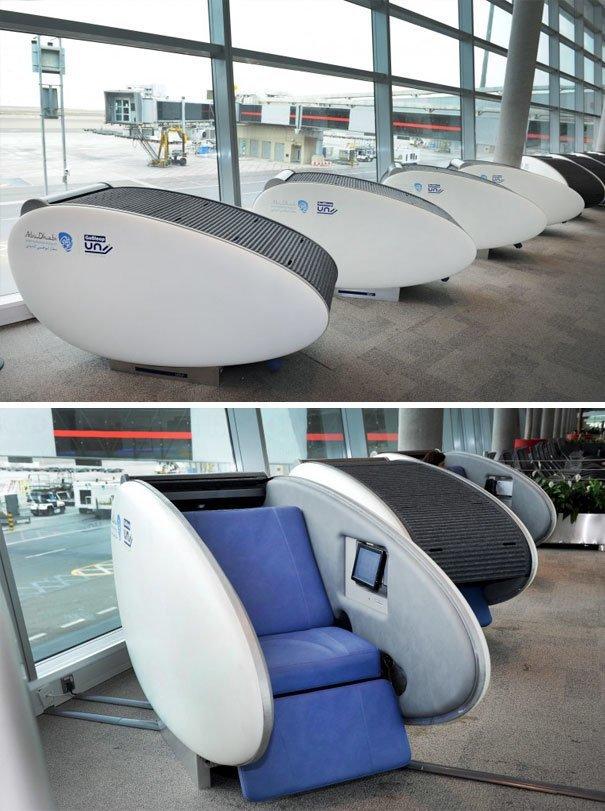 Капсулы для сна в аэропорту Абу-Даби