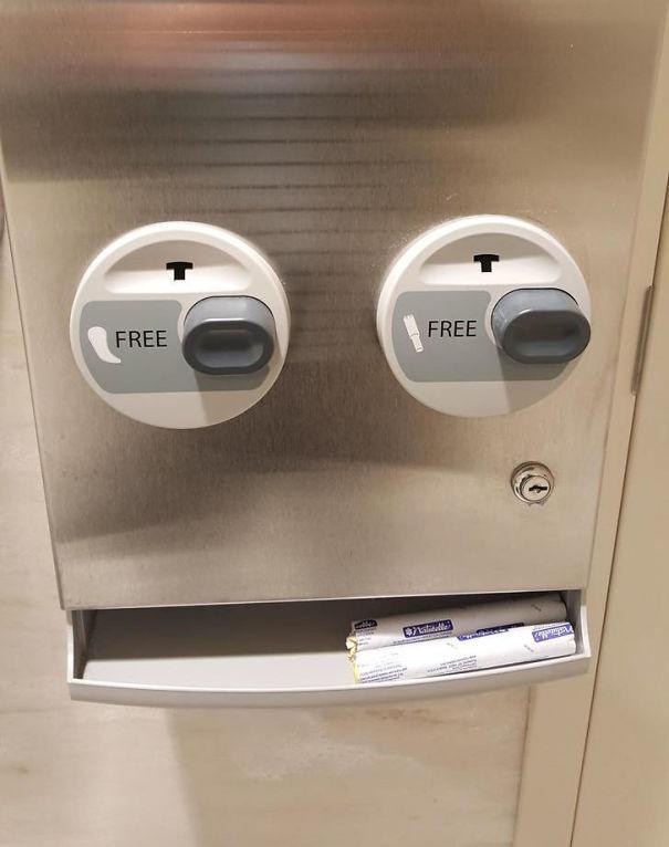 Автомат по выдаче прокладок и тампонов